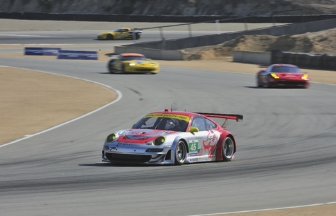 Each race of the 2011 ALMS season so far has been different from the one that came before. Mazda Raceway Laguna Seca proved to be the circuit for the Flying Lizards and car #45 while challengers had less luck. Photo by Tom Loeser