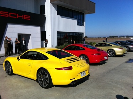 Carrera S lineup. Photo by Pete Stout