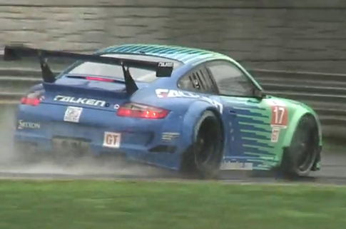 Team Falken placed eighth this year at Lime Rock. Here's the Falken car during qualifying. Photo: YouTube