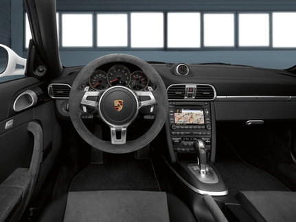 The interior will be swathed in black Alcantara. Photo courtesy Porsche