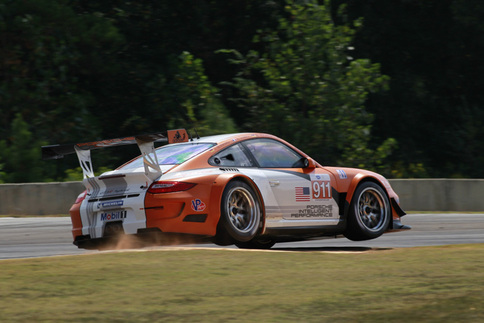 Porsche tests GT3 R Hybrid in the wet at Road Atlanta 2