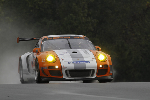 Porsche tests GT3 R Hybrid in the wet at Road Atlanta 4