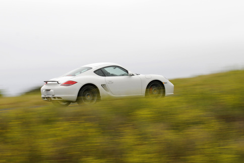 Author Jared Cullop in the Cayman S PDK. Photo by Bob Chapman/Autosportimage.com