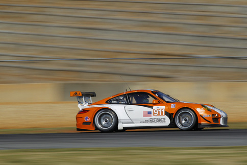 GT3 R Hybrid testing at Road Atlanta a week before Petit Le Mans 2010. Photo courtesy PCNA