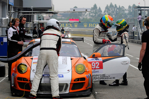 GT3 R Hybrid met with rain during pre-race testing in China 2
