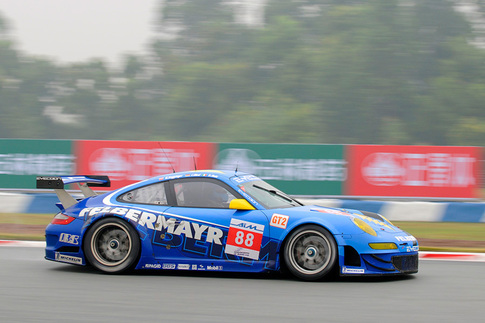 GT3 R Hybrid met with rain during pre-race testing in China 6