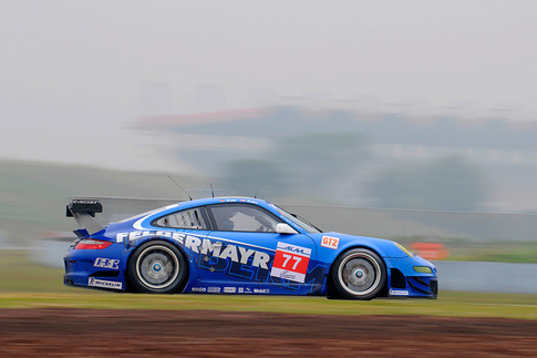 GT3 R Hybrid met with rain during pre-race testing in China 8