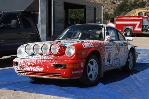 The Carrera 4 you see here is no regular 911. It has the 959 Paris Dakar torque-split transmission. Jeff Zwart won Pikes Peak for the first time in this car. Photo by Damon Lowney