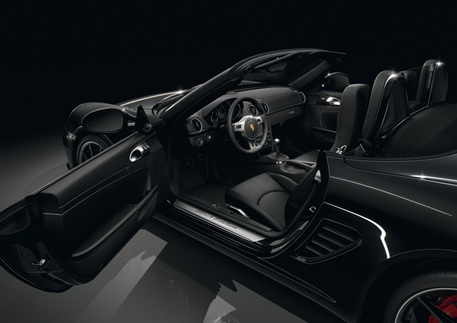 Boxster S Black Edition interior. Photo courtesy Porsche