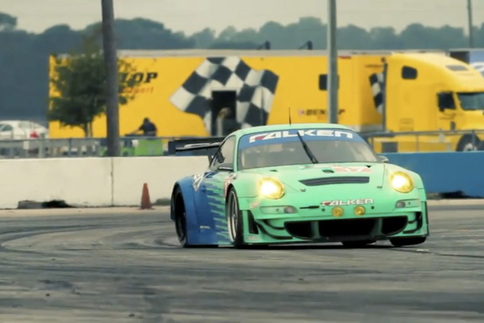 Video: Falken tests GT3 RSR at Sebring for ALMS season opener 1