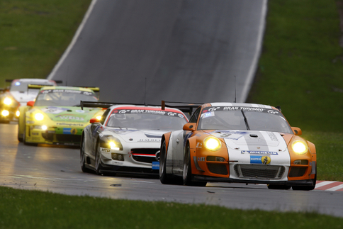 GT3 R Hybrid finished 28th after numerous setbacks. Photo courtesy Porsche