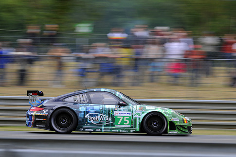 75 Prospeed Competition – Goossens, Holzer, Van Lagen (GTE-Pro): Approach to Arnage