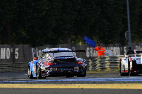 81 Flying Lizard Motorsports – Law, Neiman, Pumpelly (GTE-Am): Tertre Rouge