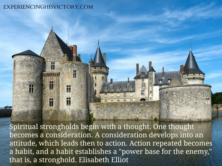 Spiritual strongholds begin with a thought. One thought becomes a consideration. A consideration develops into an attitude, which leads then to action. Action repeated becomes a habit, and a habit establishes a