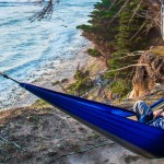 hammock camping by the ocean