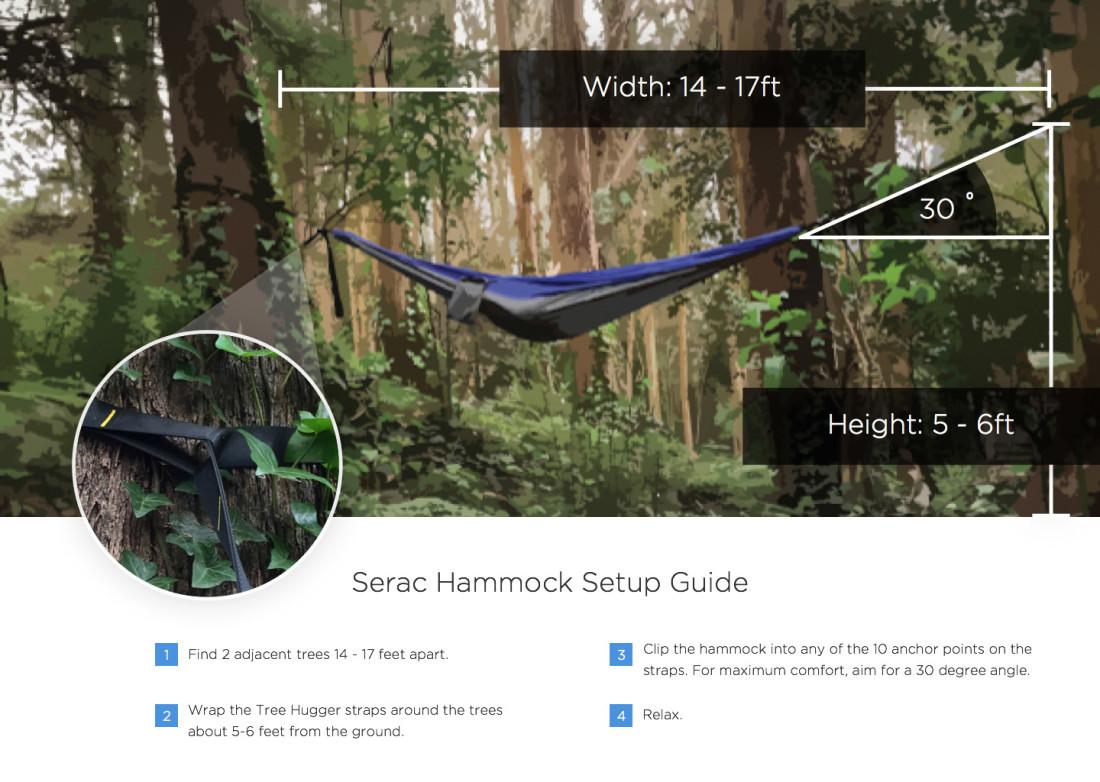 Serac Ultralight Hammock Setup