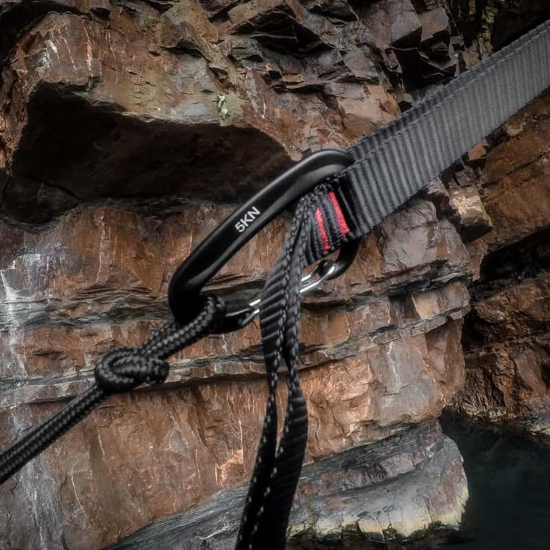 serac sequoia xl double camping hammock ultralight aluminum carabiner