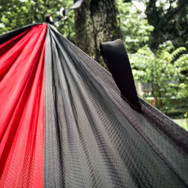 serac sequoia xl double hammock ember red ripstop diamondweave nylon pattern