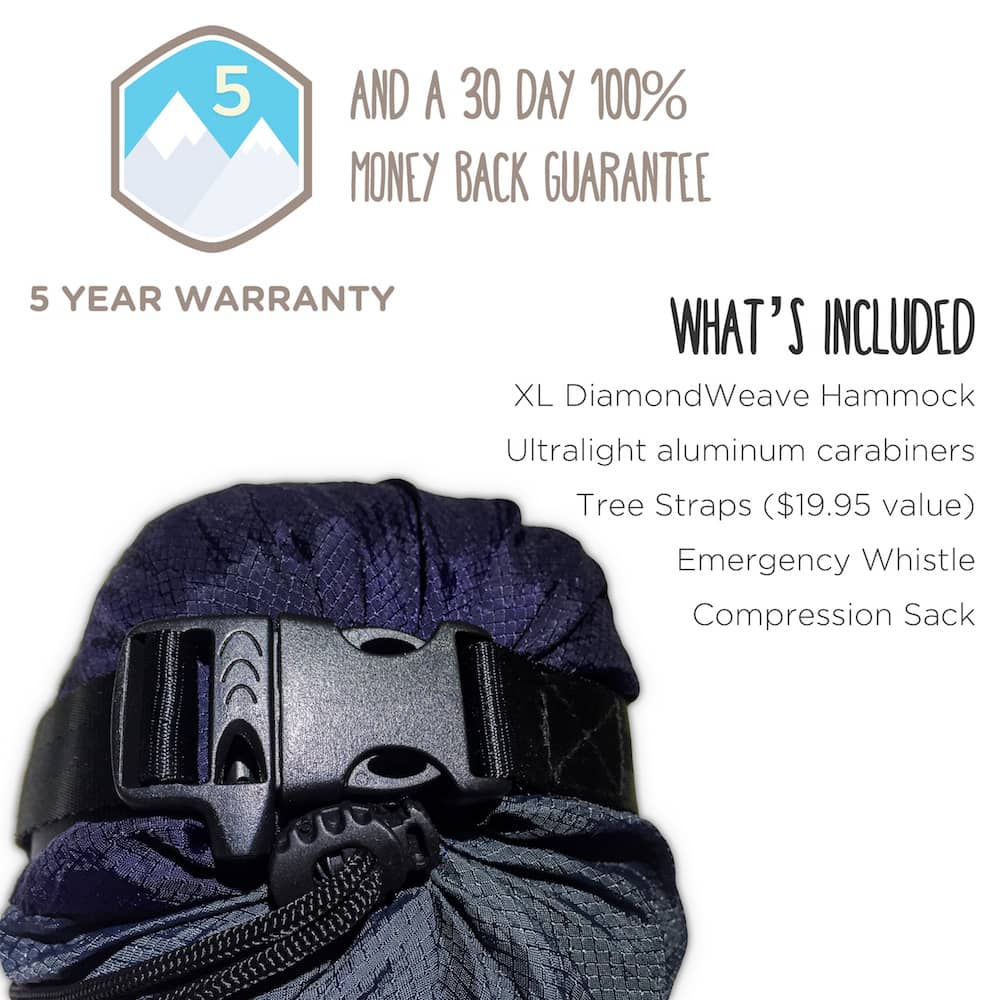Serac sequoia xl double hammock compression sack specifications and details