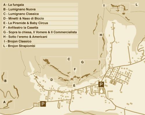 Lumignano map
