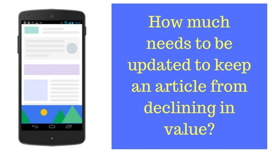 keep articles from declining in google ad revenue