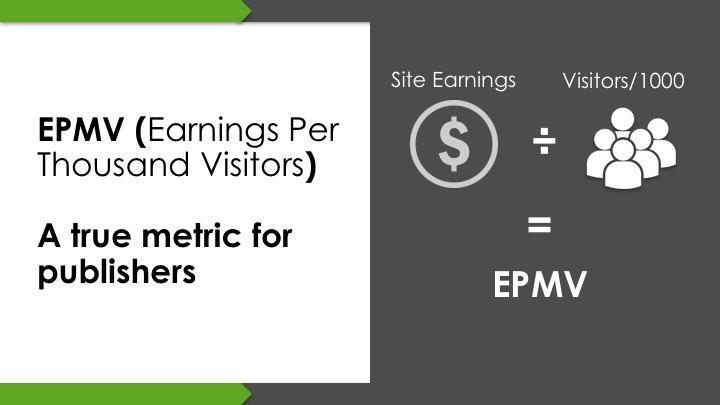 epmv to measure adsense revenue