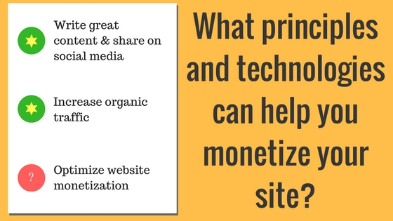 monetize your site 2017