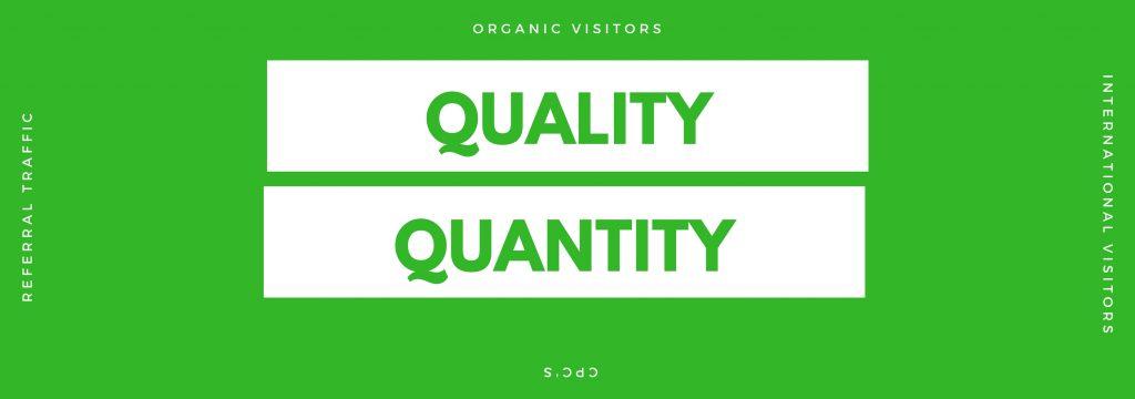quality traffic for greater value per visitor