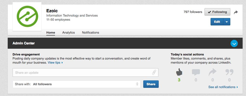 linkedin content sharing