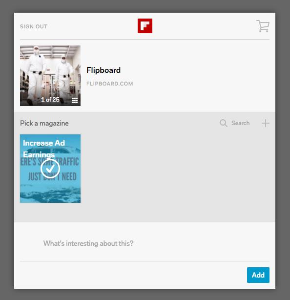 flipboard content sharing