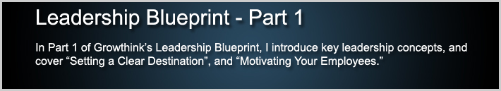 Leadership Blueprint Part 1