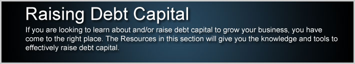 Raising Debt Capital