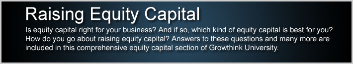 Raising Equity Capital
