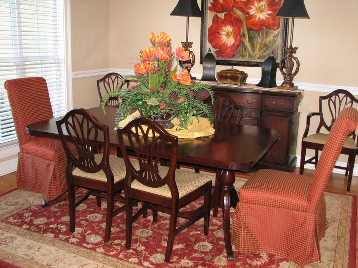have a dining room set table 6 chairs buffet and china