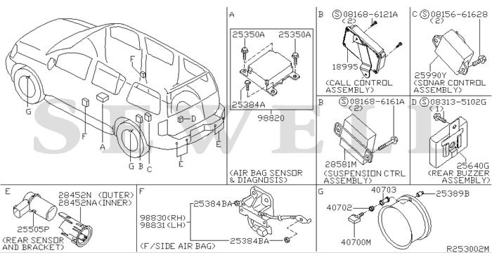 2008 infiniti qx56 parts catalog