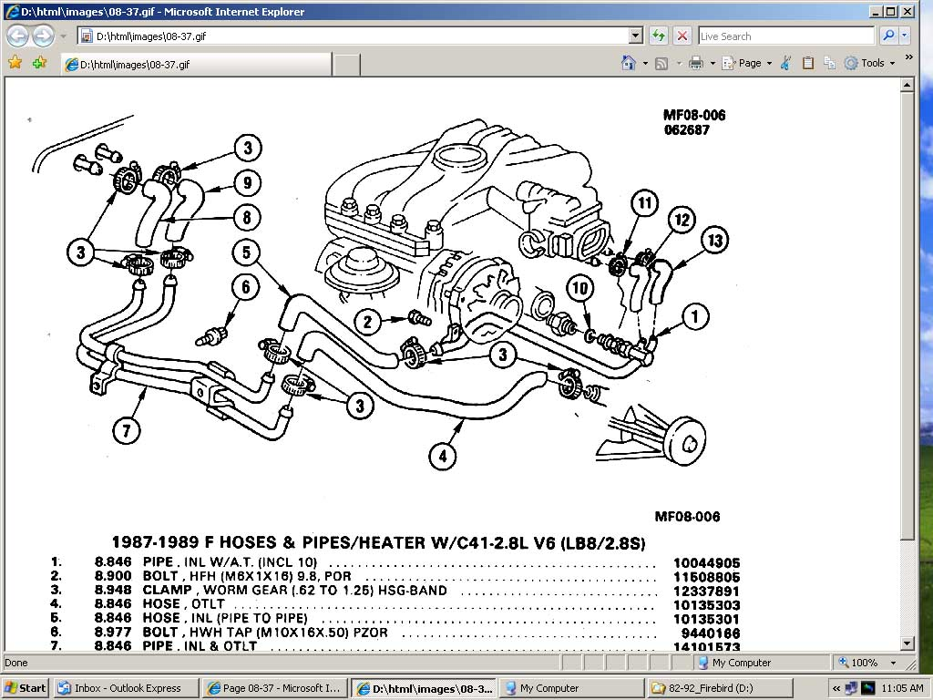 pontiac 3 8 engine diagram 2006 water
