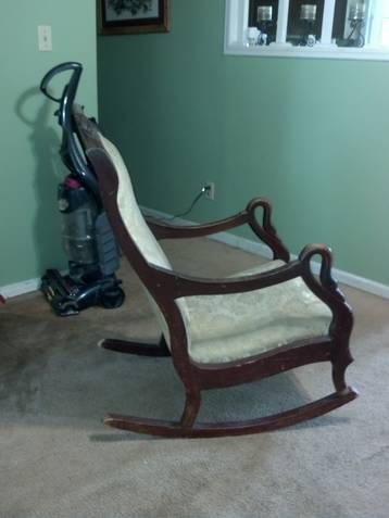 Gooseneck Rocking Chair for Sale http://serbagunamarine.com/sale-antique-gooseneck-lincoln-rocker.html