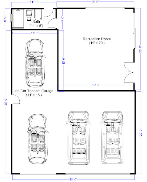 I need to remove my 4th car tandem garage and add that space for 8 car garage plans