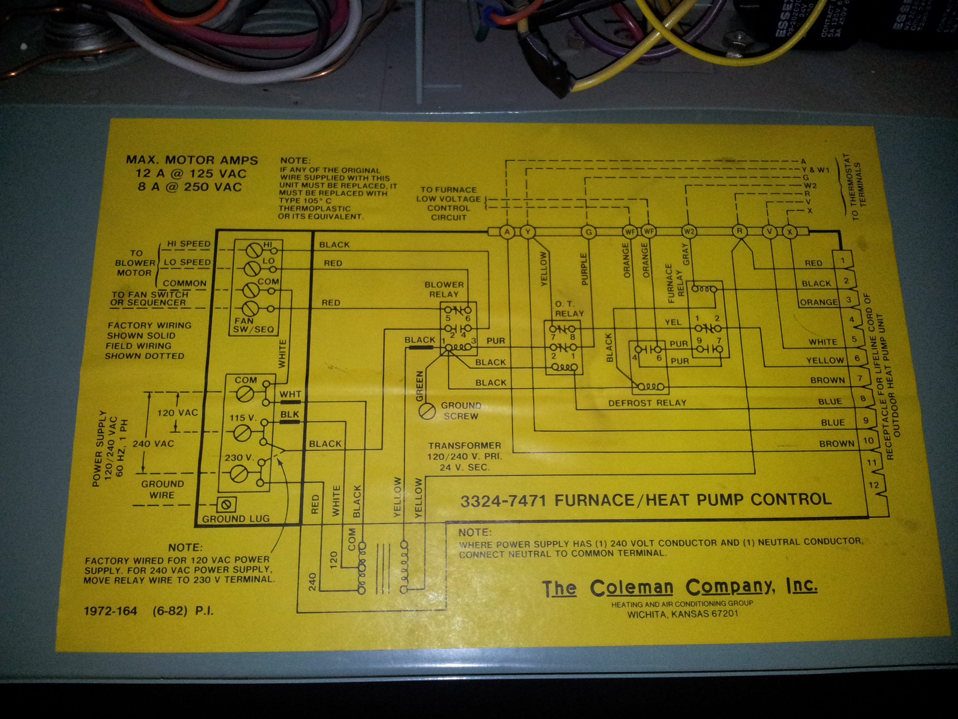 Wiring Diagram For Coleman Furnace – readingrat.net