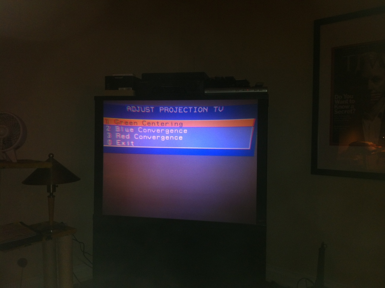 Rca Model P46924 Projection Tv Screen Bowed In Top And