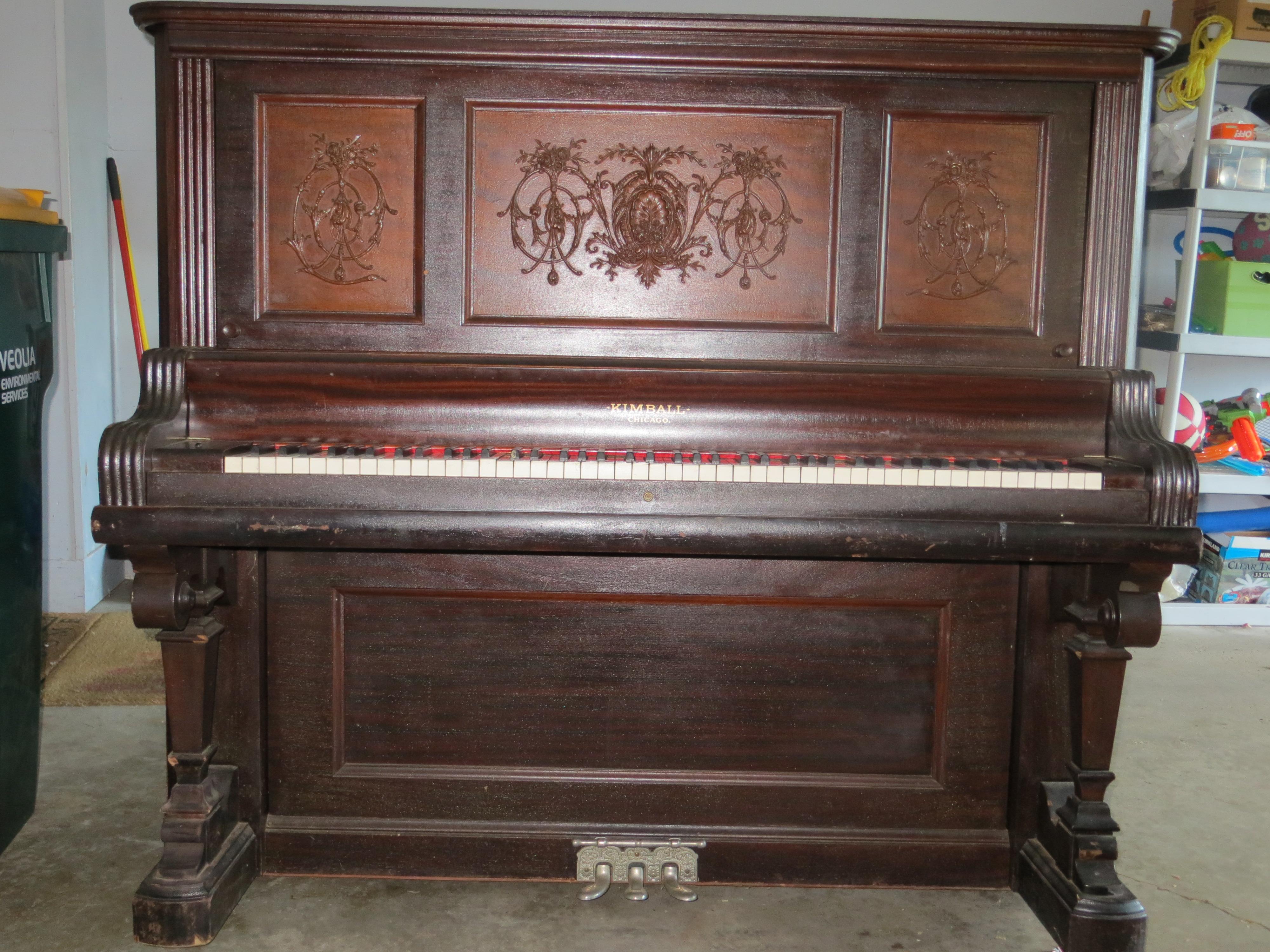 Upright kimball piano