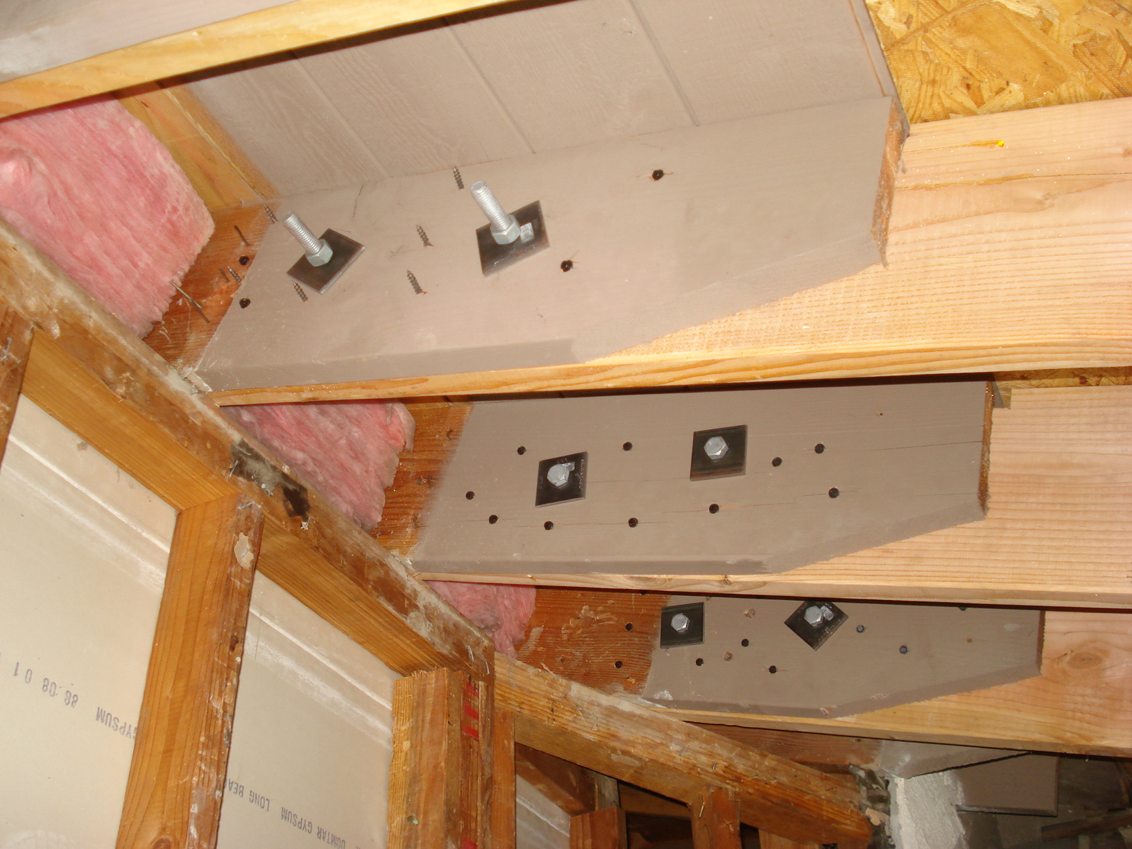 Hi I Extending My Roof Rafters And I Used 2 1 2 Inch Bolts