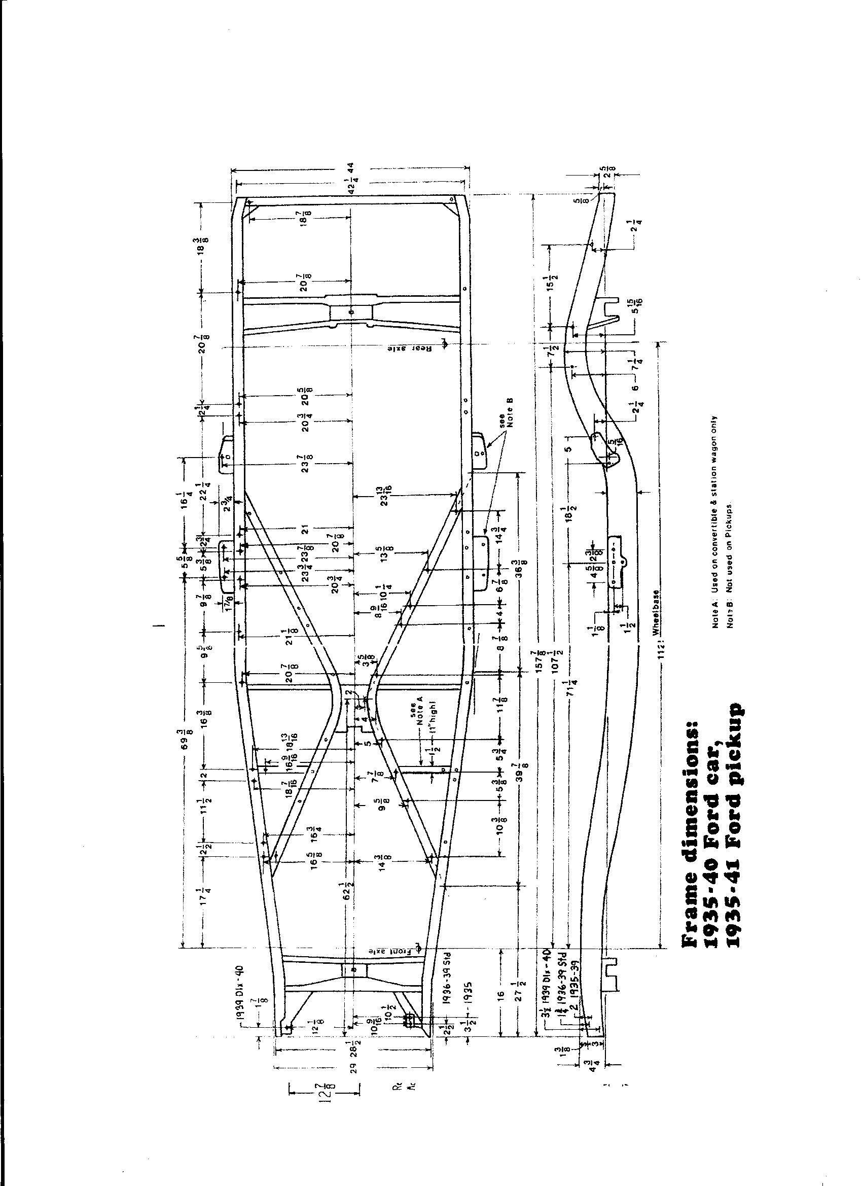 1934 ford frame measurements