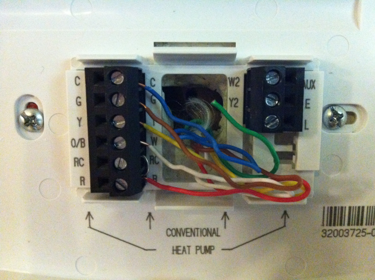 trying to replace carrier tb pac 01 thermostat with honeywell