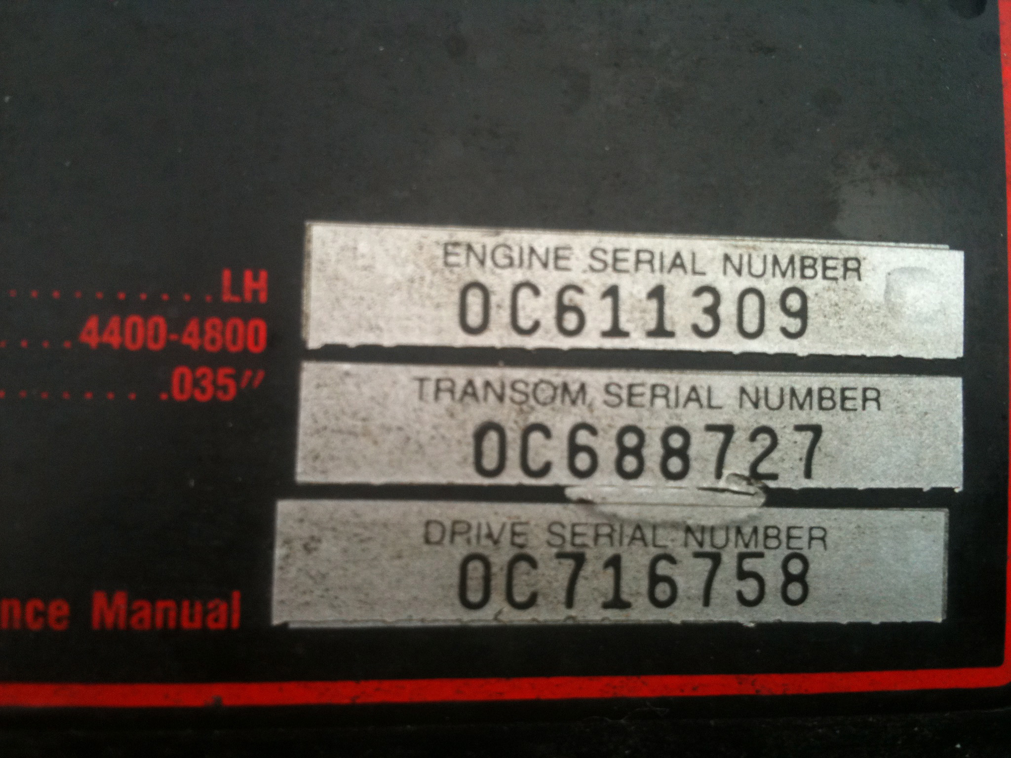 Engine Serial Number Location On Mercruiser Get Free