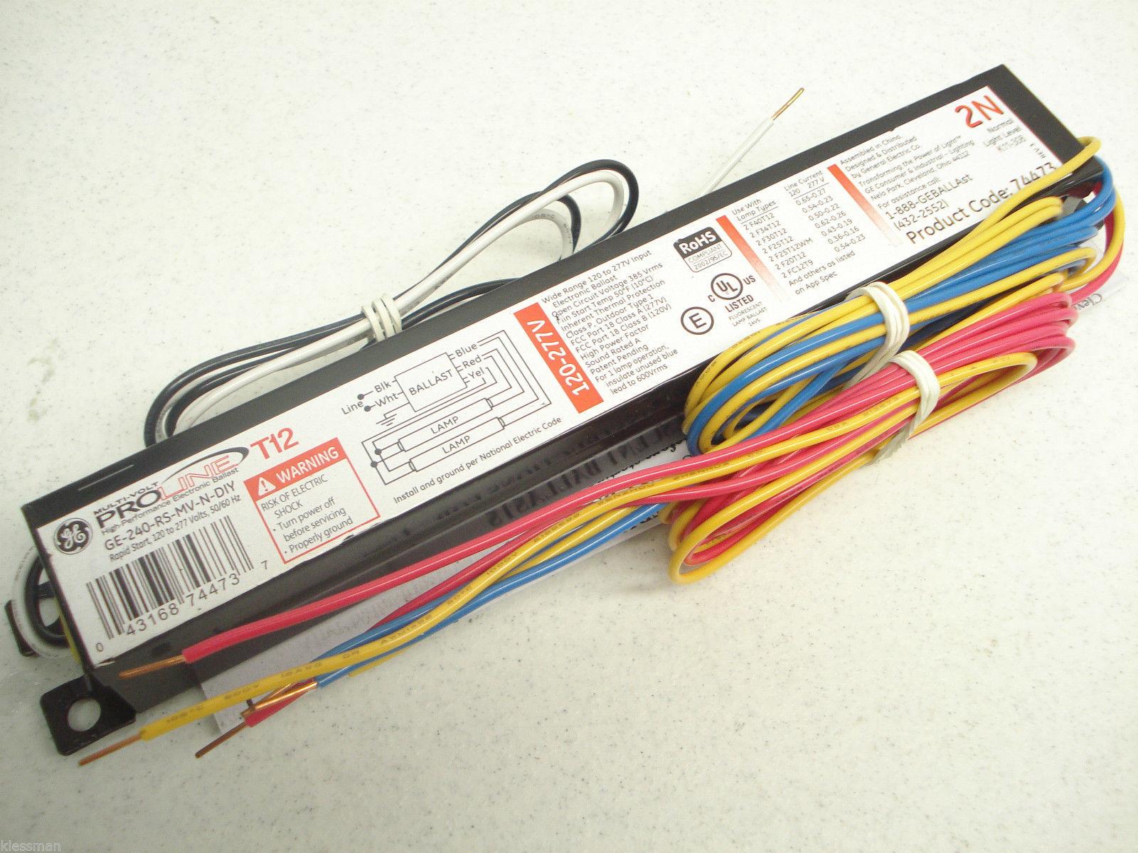 I am wiring a GE-240-RS-MV-N-DIY ballast for a 2-20w lamp bulb