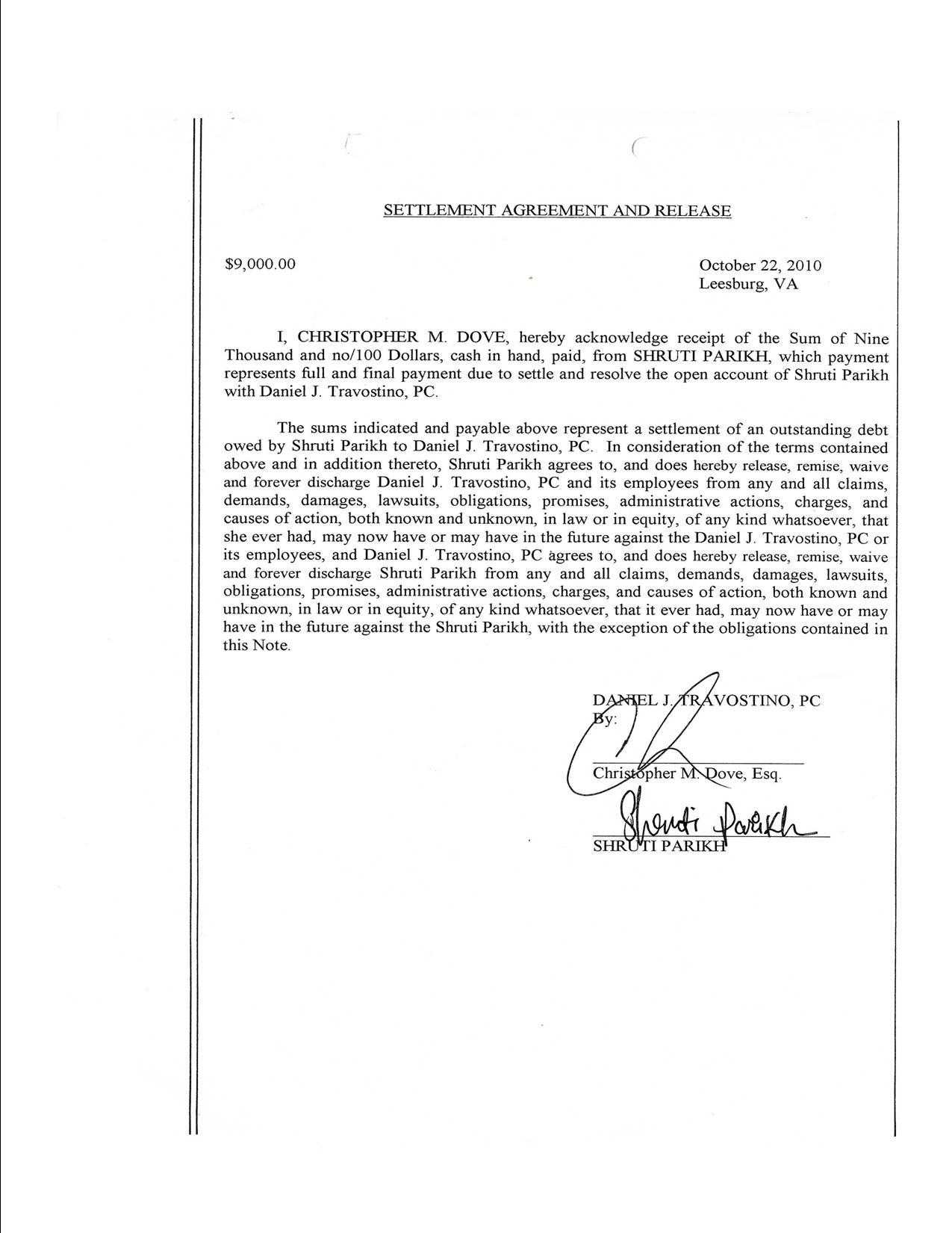 divorce settlement agreement template free