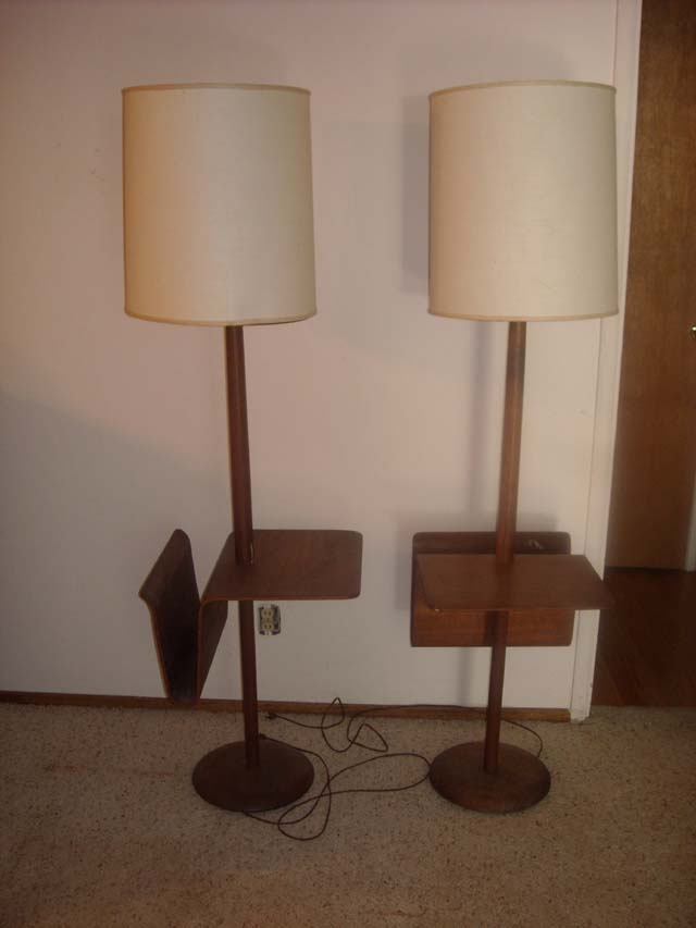 would like to know the value of two danish modern floor lamps with. Black Bedroom Furniture Sets. Home Design Ideas