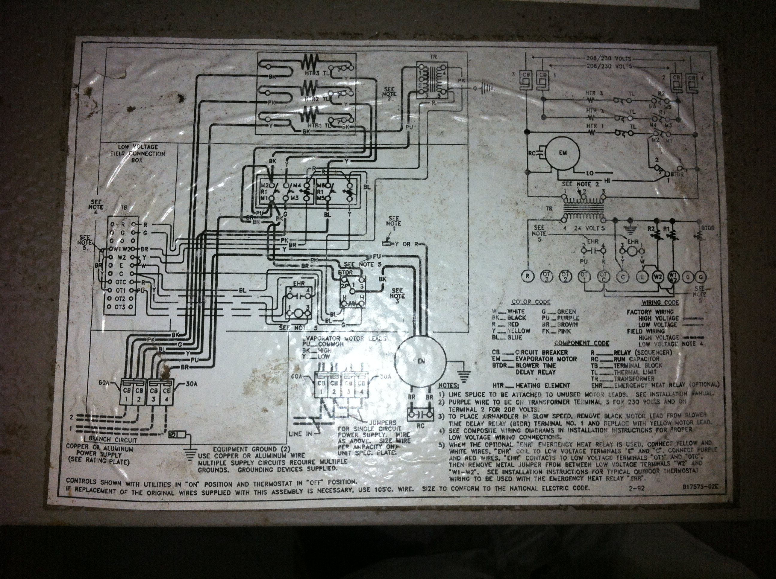2012 04 15_010529_img_0035 attempting to troubleshoot heatpump a c troubles this is goodman a30-15 wiring diagram at soozxer.org