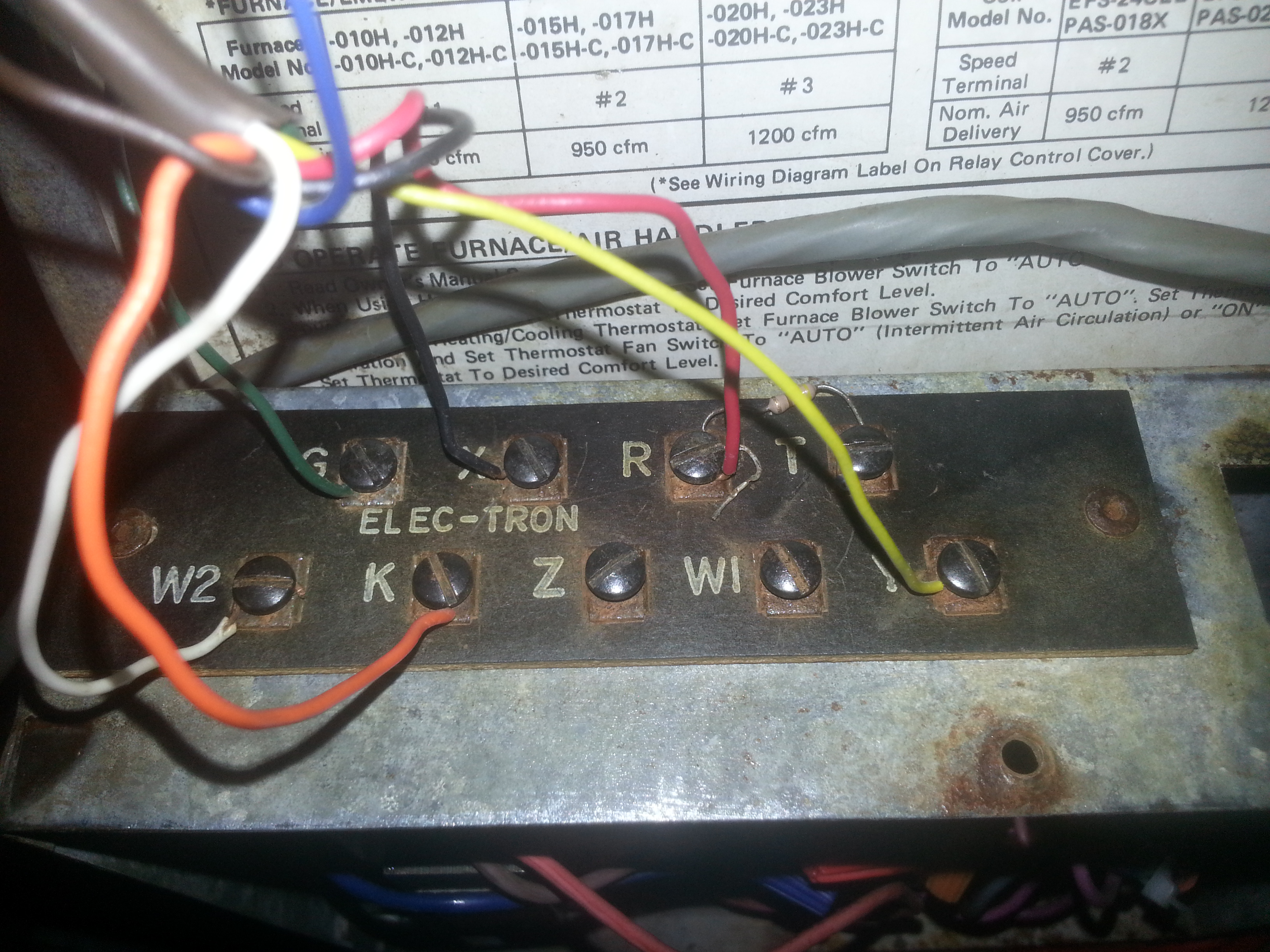 Got an old Intertherm Heat Pump trying to wire up a new Honeywell – Rth3100c Wiring-diagram